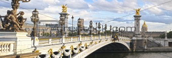 Alexandre III bridge panoramic view