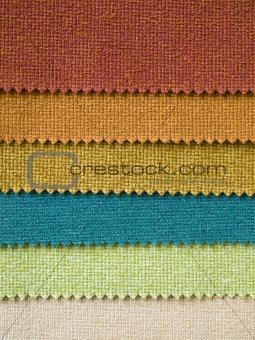 Six Fabrec color Sample