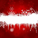 Snowflake and Icicle background