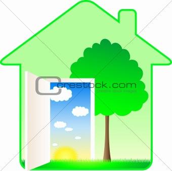 beautiful modern eco house