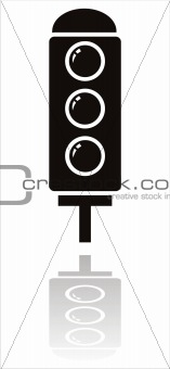 black traffic light icon