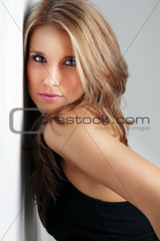 Portrait of beautiful young model