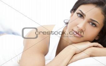 Beautiful Girl Thoughtful Young Hispanic Woman
