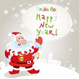 Santa claus greeting card 10eps