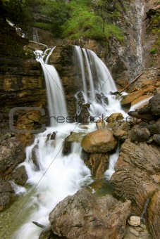 alpine waterfall