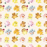 cartoon animal Afternoon Tea time seamless pattern