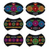 Mexican Wine Labels Set