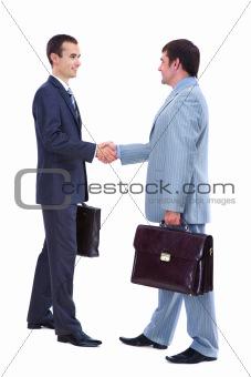 Greeting men