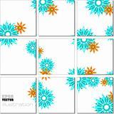 Vector Illustration geometrical mosaic pattern in blue tones