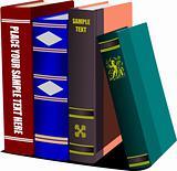 Library shelf book. Vector
