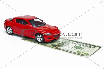 Car model and dollar