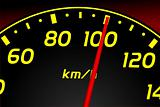 Speedometer. Accelerating Dashboard. Vector illustrator
