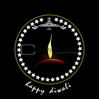Diwali Greeting. Vector illustration