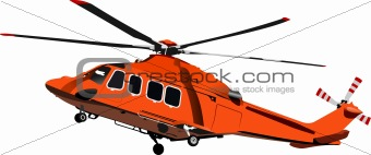 Air force. Combat helicopter. Vector illustration