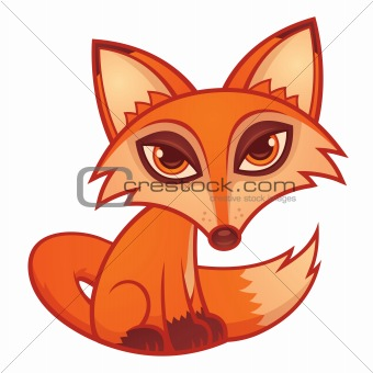 Cartoon Red Fox