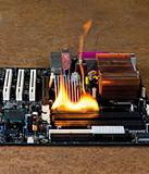 burning computer main board