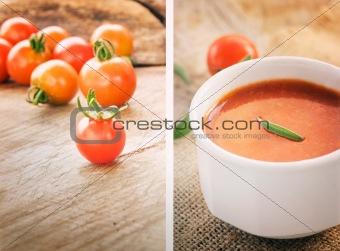 Tomato soup collage