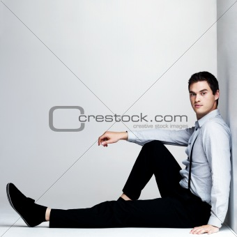 Handsome young man looking confidently - Copyspace
