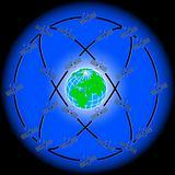 space satellites in eccentric orbits around the Earth.