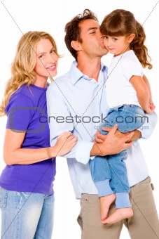 couple with a daughter