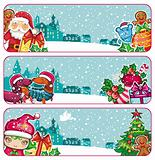 Colorful Christmas banners