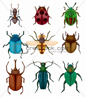 cartoon insect bug icon