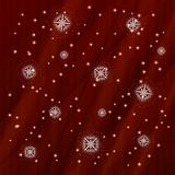 vector winter background with snowflakes and stars