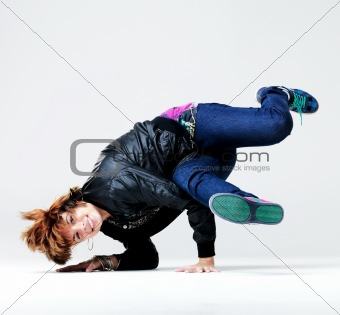 Modern dance - Young woman performing hip-hop style dancing