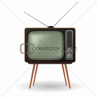 Old-fashioned retro TV