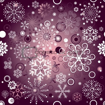 Violet Christmas seamless pattern