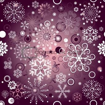 Violet Christmas seamless pattern
