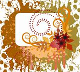 Autumn spattered background