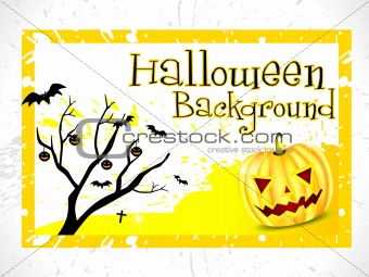 abstract halloween background with tree