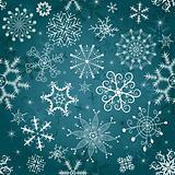 Christmas blue seamless tracery