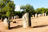 Cromlech of Almendres near Evora, Alentejo, Portugal