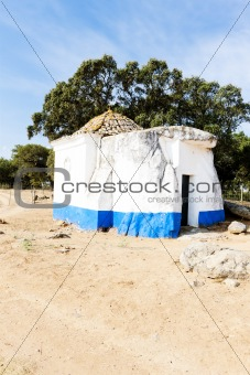 chapel from dolmen at Sao Brissos near Evora, Alentejo, Portugal