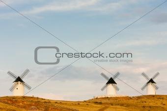 windmills, Alcazar de San Juan, Castile-La Mancha, Spain