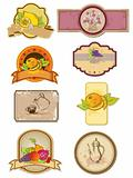 food and drinks labels