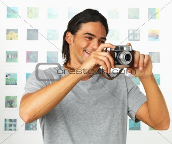 Attractive photographer