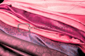 Pink Indian fabric