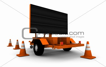 Road Construction Sign - Blank
