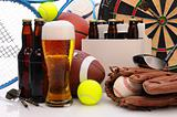 Beer and Sports Equipment