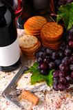 Wine Still life with corkscrew and crackers