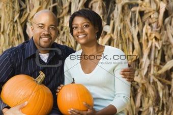 Fall couple portrait.
