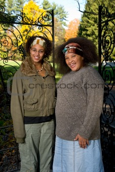 African american teen girls
