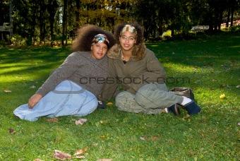 African american teen girls