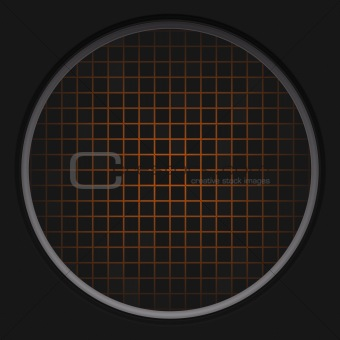 Orange Radar Grid