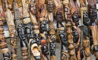 Carved African Walking Sticks