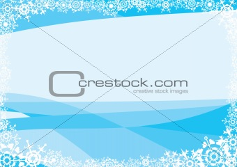 Snowflakes. A blue background for a card (letter).