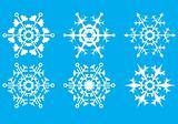 Snowflakes. The crystal form.